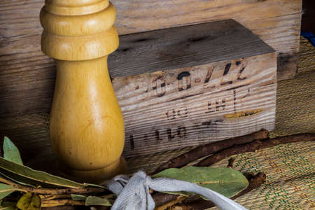 wooden block: Engraved wooden block