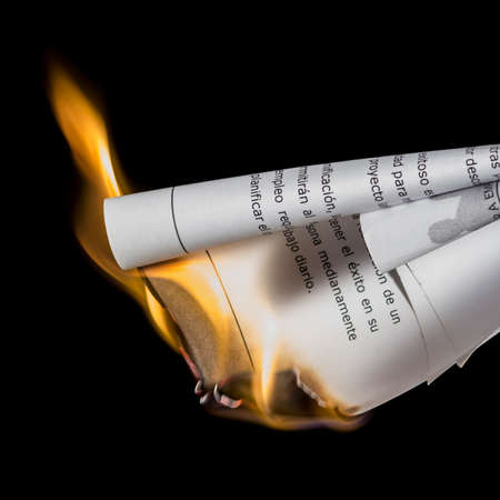 suppress: Burning papers. Suppress evidences