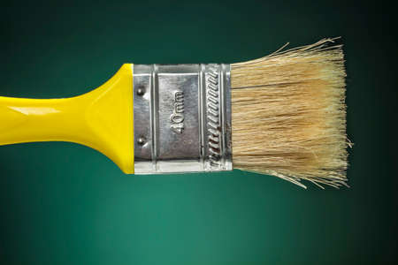 decorator: 40mm decorator brush with horse hair bristle and yellow handle