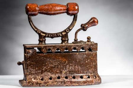 Vintage coal iron Stock Photo