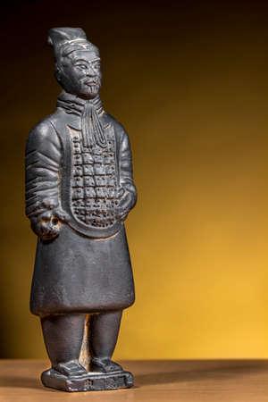 terracotta: Terracotta figurine of ancient chinese warrior