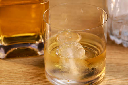 Whiskey cup with ice