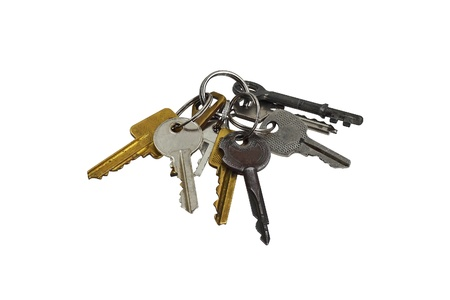 Big bunch of keys Stock Photo