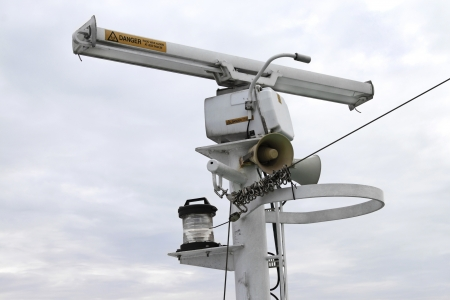 Shipborne radar in the sky Stock Photo - 15731256