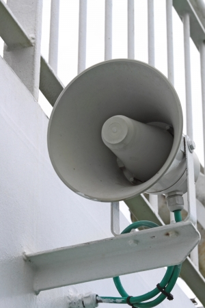 Alarm megaphone on the ship