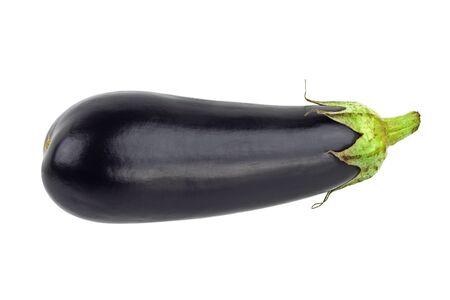 Purple eggplant isolated on white. Solanum melongena Stock Photo - 15934685
