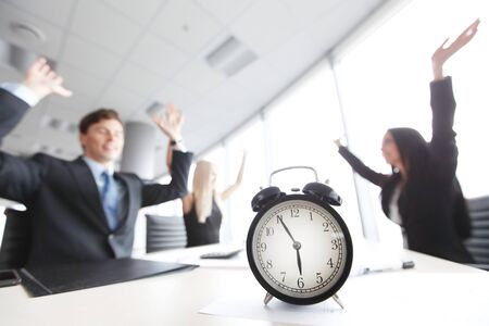 workday: team at the end of workday