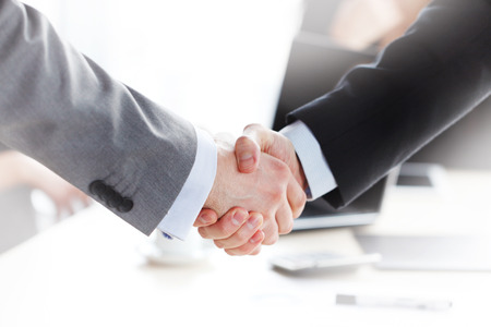 handshake at the business meeting 스톡 콘텐츠