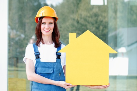 yellow house: workman and yellow house symbol