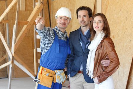 foreman: foreman shows new house to a young couple
