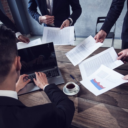 job deadline: Business man getting extra work deadline concept