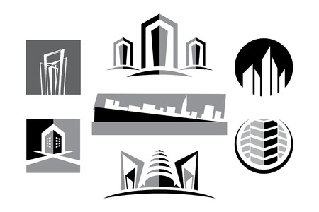 Vector Real Estate Construction Collection Stock Illustratie