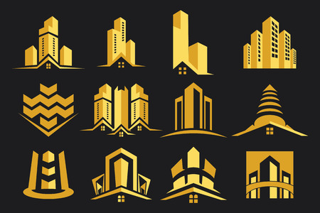 work home: Vector Logo Real Estate Construction Collection