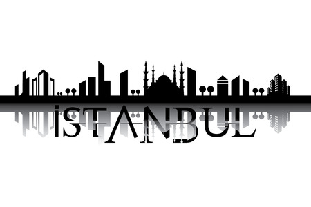 city landscape: Vector City Landscape Istanbul Turkey Illustration