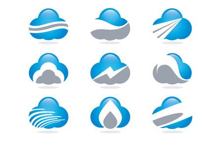 Vector Logo Cloud Technology