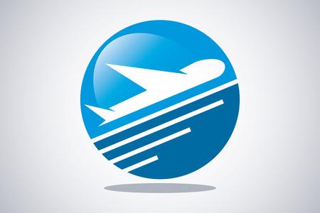 logotipo turismo: Avión Viajes Turismo