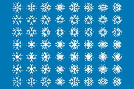 winter range: Snowflakes Icon Set Illustration
