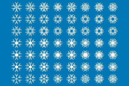 precipitation: Snowflakes Icon Set Illustration