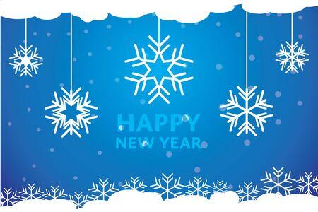 happy new years: Snowflakes Happy New Years Illustration