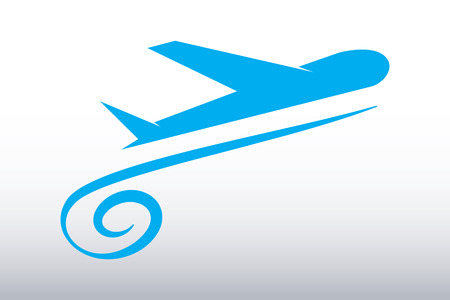 logo home: Vector Airplane Travel Tourism Illustration
