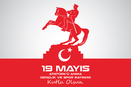May 19 Atatrk Commemoration and Youth and Sports Day Illustration