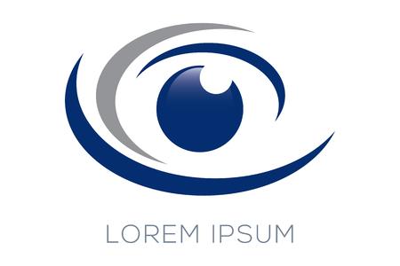 Logo des yeux Banque d'images - 46665296