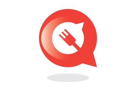 speech buble: Eat  Drink Speech Buble Symbol Illustration