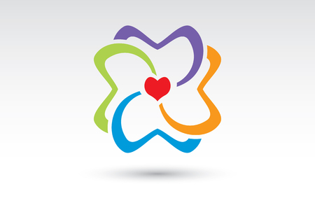 community health: Community for Health and Heart Logo