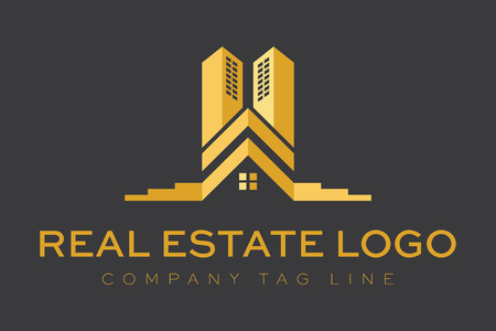 building real estate modern:  Logo Real Estate Construction