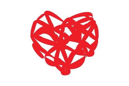Red Heart, Liebe und Valentinstag über das Design.