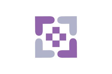 El logotipo moderno y symbol.It se pueden utilizar para temas médicos y de salud.