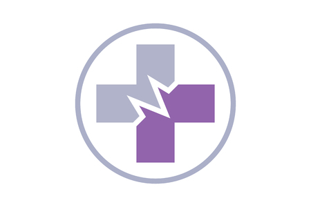 tech support: The modern logo and symbol.It can be used for medical and health issues.