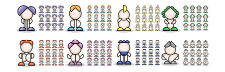 small people: 3d colorful small people. 3d image. Isolated white background.