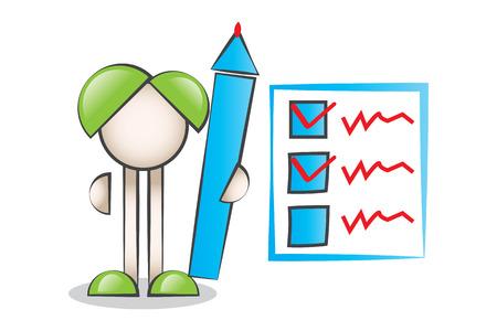 lectern: Big Pen Cartoon Characters and Check List