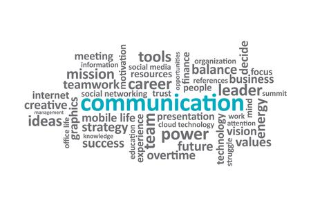graphic: Communication - Typography graphic design.