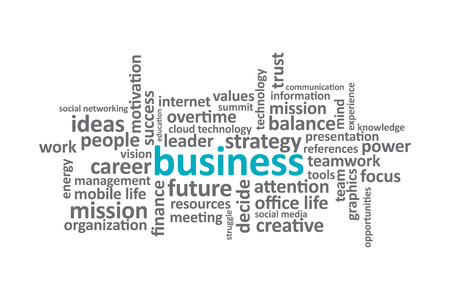 graphic: Business - Typography graphic design. Illustration