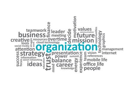 graphic: Organization - Typography graphic design. Illustration