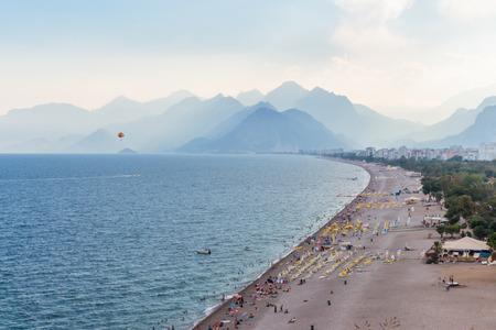 Konyaalti Beach view from above. Antalya Turkey