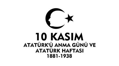 longing: November 10 Ataturk Commemoration Day and Atatrk week. Illustration