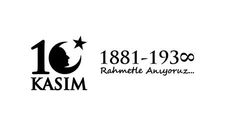 November 10 Ataturk Commemoration Day and Atatrk week. Illusztráció