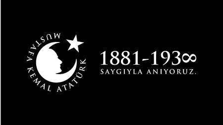 commemoration day: November 10 Ataturk Commemoration Day and Atatrk week. Illustration
