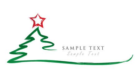 Vrolijke Kerstmisachtergrond en Kerstboom. Vector Illustratie