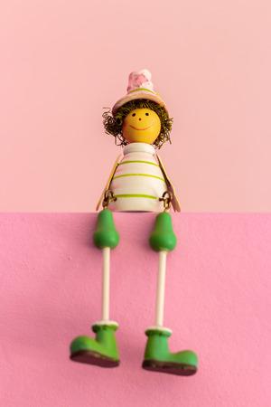juguetes de madera: Sentado Juguetes de madera, regalo Color Baby Dolls ..
