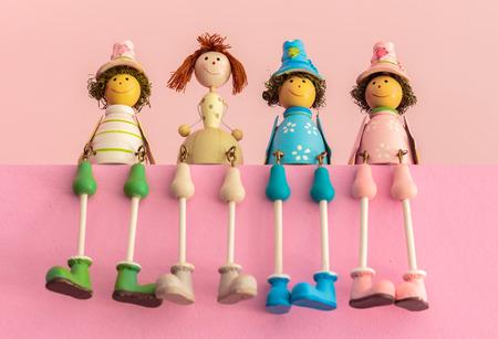 Zitten Houten speelgoed, Gift Kleur van de Baby Dolls ..