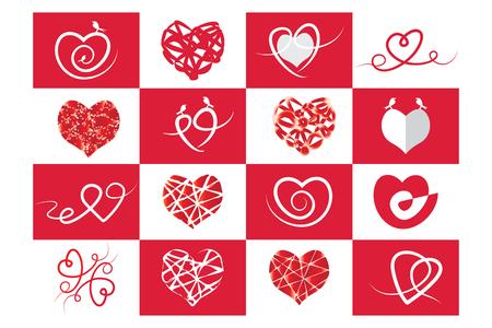 Corazón rojo, Amor y Día de San Valentín Ilustración de vector