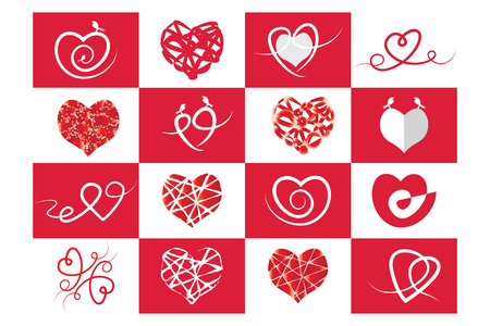 friend chart: Red Heart, Love and Valentines Day Illustration
