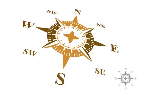 Compass isolated on white background Illustration