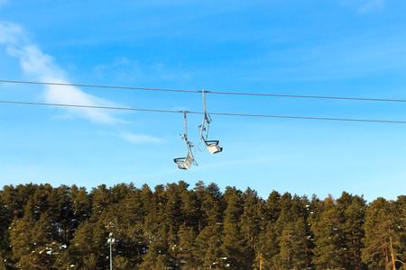 Winter Season Ski Lift and Scenic Ski Resort