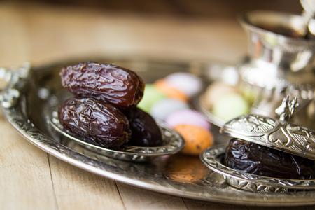Dried Date fruit  Medjool  Ramadan food. Stock Photo