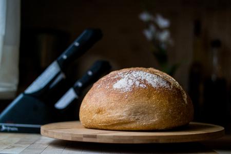 Organic Bread at Kitchen. Stock Photo